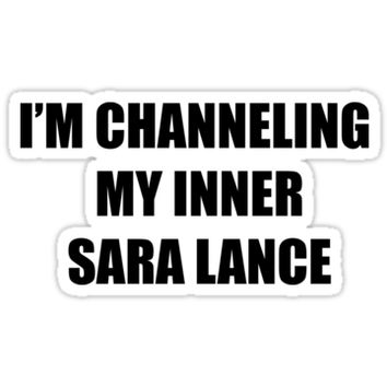'i'm channeling my inner sara lance' Sticker by ambergawsh