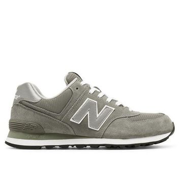ICIKGQ8 new balance 574 grey suede mesh athletic sneaker
