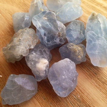 Celestite Crystal Nugget Rough Stone Healing Crystals and Stones Rough Celestite Crystal Raw Crystal Raw Celestite Mineral Stone Gemstone
