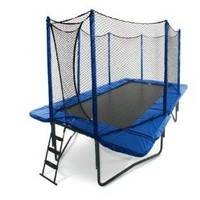 JumpSport 10` x 17` StagedBounce Trampoline with Safety Enclosure: Sports & Outdoors