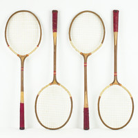 Vintage Badminton Racket Set