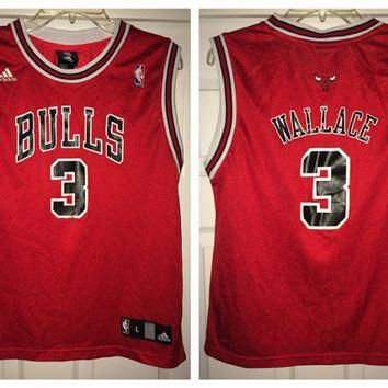 Sale!! Vintage Adidas CHICAGO BULLS Basketball Jersey NBA shirt