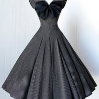 Bridess Vintage Women Bow Dress Spring Summer Little Party 1950s Dress