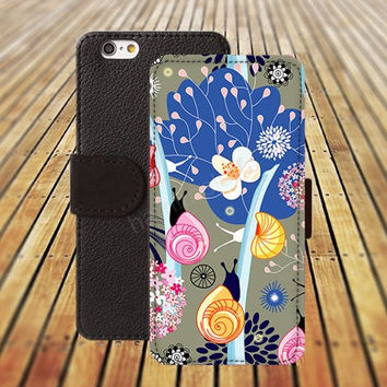 Cartoon shells iphone 5/ 5s iphone 4/ 4s iPhone 6 6 Plus iphone 5C Wallet Case , iPhone 5 Case, Cover, Cases colorful pattern L032
