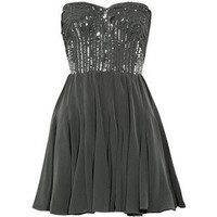 Strapless silk bustier dress - Rebecca Taylor - Polyvore