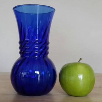 Cobalt Blue Glass Vase / Dark Blue Tall Vases / Free US Shipping