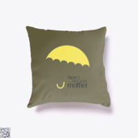 Yellow Umbrella, How I Met Your Mother Throw Pillow Cover