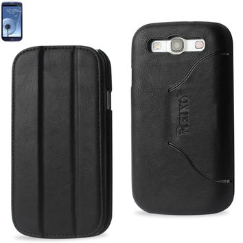 Reiko Fitting Case Samsung Galaxy S3- I9300 Horse Skin Texture Black