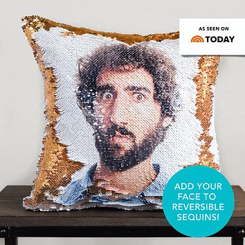10-Pack PrankPillows: Get 10 *Photo* Pillows Printed on Gold & White Sequins (Covers Only)