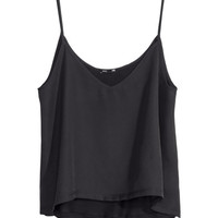 H&M - Chiffon Top - Black - Ladies