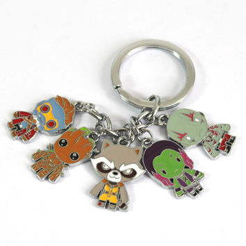 Guardians of the Galaxy Character Pendant Keychain
