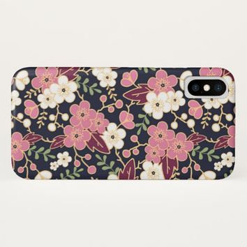 Cute Modern Spring Flower Pattern Girly Floral iPhone X Case