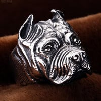 Stainless Steel Pitbull Ring