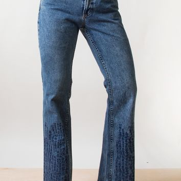 Flared Scripture Jeans