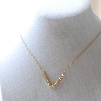 Dainty Chevron Necklace, Gold V Bar Necklace, Minimalist Geometric Jewelry