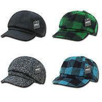 New Plaid Newsboy Drivers Polo Golf Hat Cap- Decky 902