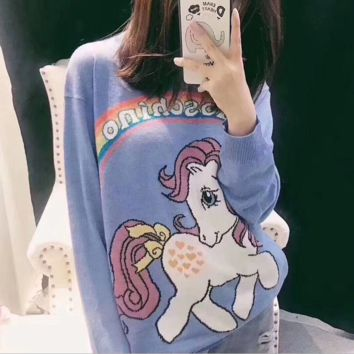 ''MOSCHINO'' Fashion Casual Long Sleeve Sweater Pullover Sweatshirt