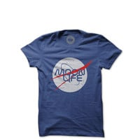 The Moon Life - Moon Unit Tshirt - Blue