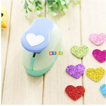 2-2.5cm Heart shape EVA foam punch paper punch for greeting card handmade Scrapbook Handmade puncher free shipping