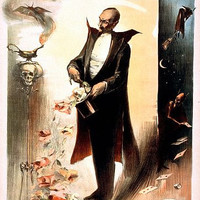 Magician Pulling Roses From Top Hat Magic Poster