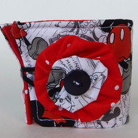 Classic Disney Coffee Cup Cozy / Mickey Mouse Drink Sleeve / Minnie Mouse / Mickey & Minnie / Black and white / Red Polka Dot