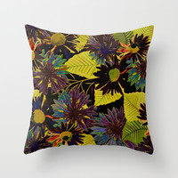 floral Africa Throw Pillow by Clemm