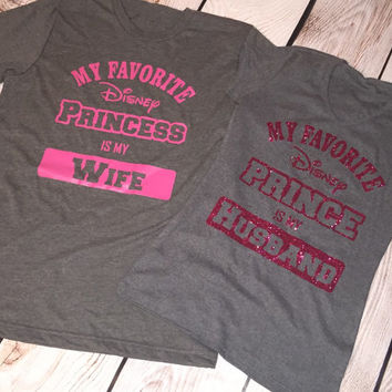 Disney Couple Shirts - 14 shirt styles to choose from - Sizes Newborn to Adult 3XL