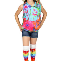 Dirtee Hollywood Flower Power Muscle Tee | Mod Angel