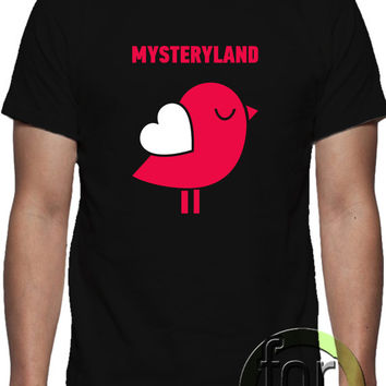 MYSTERYLAND, T-shirt  design,  unique design, all sizes. great gift