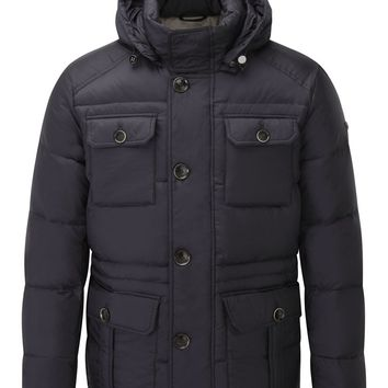 Hackett Men's Short Down Parka – Navy | Country Attire