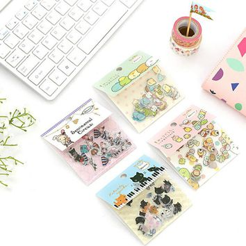 80 Pcs/pack Cute Sumikko Gurashi Cat Sentimental Circus Diary Label Stickers Decorative Scrapbooking DIY Stickers H1419