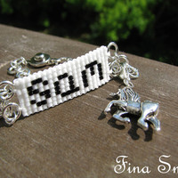 Sam Winchester 'Wait, there's no such thing as unicorns?' Bracelet Supernatural