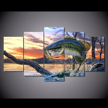 Flying Fish 5PC Canvas