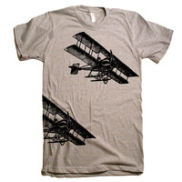 Mens Vintage Fighter Planes T Shirt - American Apparel Tshirt - XS S M L XL and XXL (28 Color Options)