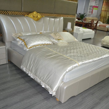 Bedroom Furniture Soft Bed Bedroom Furniture Soft Bed 2016 Time-limited Direct Selling King Modern No Genuine Leather Sofa Beds