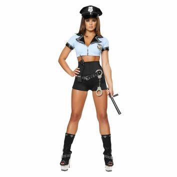 Sexy Law Enforcement Police Woman Costume Set