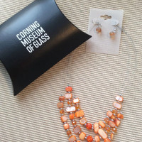 Corning Museum Of Glass Necklace With Matching Earrings NIB