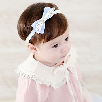 Rosie Ribbed Bow Tie Frill Band Hairband