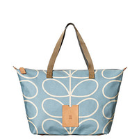 Orla Kiely - Giant Linear Stem Zip Shopper