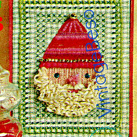 Santa Embroidery Pattern • Crewel Pattern • Christmas Classic • Vintage Embroidery Santa Claus hanging picture • Classic Xmas • PDF Pattern