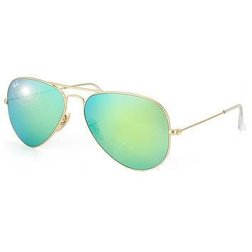 Ray-Ban RB3025 Unisex 112/19 Matte Gold/ Green Metal Aviator Sunglasses