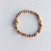 Profound Aesthetic Age Of Enlightenment Bead Bracelet- Brown One