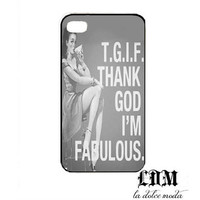 tgif thank god I'm FABULOUS iPhone 4 iPhone 4s iPhone 5 hard plastic case funny vintage trendy cute