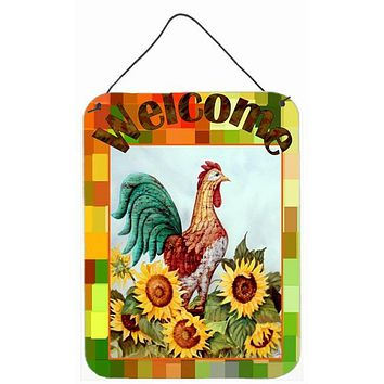 Welcome Rooster Wall or Door Hanging Prints PJC1056DS1216