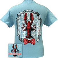 Girlie Girl Originals Preppy Lobster Anchor Bow Bright T Shirt