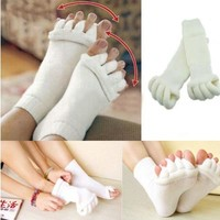 Men Women Comfort Foot Toes Alignment Socks Stretch Tendon Relieve Pain Feet FREE SHIPPING