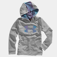 Girls' Armour Fleece Storm Big Logo Hoodie | 1232174 | Under Armour US