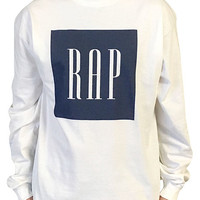 The RAP Long Sleeve T-Shirt in White