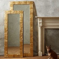 Gilded Wood Mirror by Anthropologie Honey