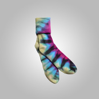 Bamboo Cotton Sock Pink, Turquoise, Yellow